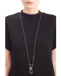 Alexis Bittar Mixed Charm Pendant Necklace