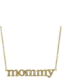 Jennifer Meyer Mommy Pendant Necklace