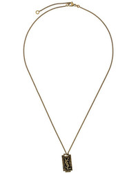 Saint Laurent Monogram Charm Necklace