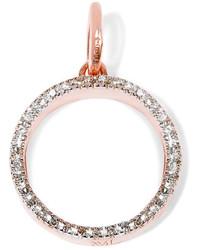 Monica Vinader Naida Circle Rose Gold Vermeil Diamond Pendant