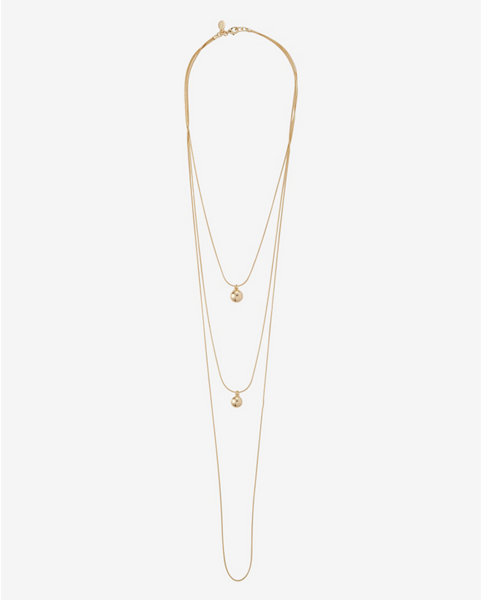 Express Nested Metal Dot Pendant Necklace