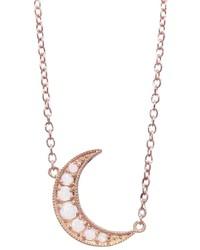 Andrea Fohrman Opal Crescent Moon Necklace