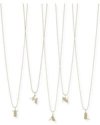 Sydney Evan Pure Initial Charm Necklace