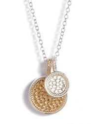 Anna Beck Reversible Disc Pendant Necklace