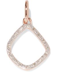 Monica Vinader Riva Kite Rose Gold Vermeil Diamond Pendant One Size