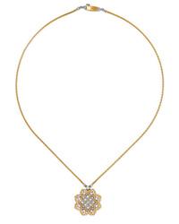 Buccellati Rombi 18 Karat Yellow And White Gold Diamond Necklace