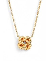 Tory Burch Rope Knot Pendant Necklace