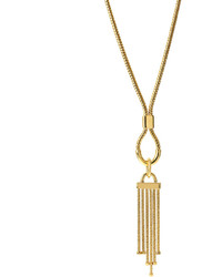 Diane von Furstenberg Snake Chain Tassel Pendant Necklace