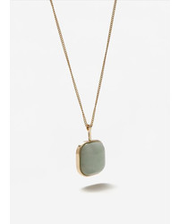 Mango Stone Pendant Necklace