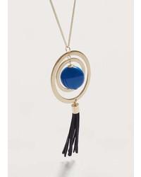 Violeta BY MANGO Tassel Pendant Necklace