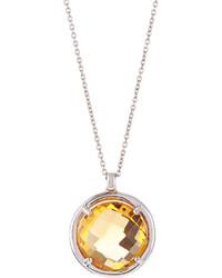 Roberto Coin White Gold Citrine Pendant Necklace
