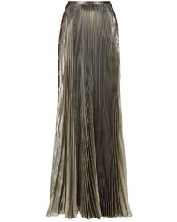Versace Baroque Appliqu Pleated Maxi Skirt