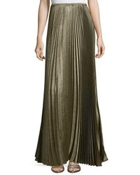 Florianna bijoux pleated metallic maxi skirt medium 5262122