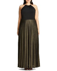 City Chic Shimmer Pleat Maxi Dress