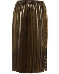 Etoile Isabel Marant Isabel Marant Toile Malden Pleated Lam Midi Skirt