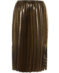 Isabel marant toile malden pleated lam midi skirt medium 760195