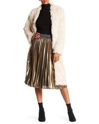 Angie Metallic Pleated Midi Skirt