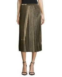 Tracy Reese Pleated Midi Skirt