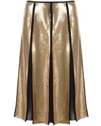 Reinaldo Loureno Embroidered Midi Skirt