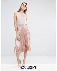 True Violet Midi Pleated Skirt