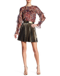 Haute Hippie Mini Pleated Skirt