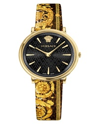 Versace Tribute Collection Leather Watch