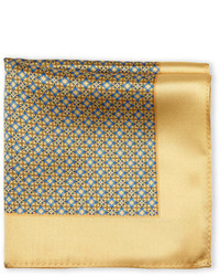 Silk Flower Link Pocket Square