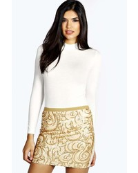 Boohoo sophie sequin mini skirt medium 136760