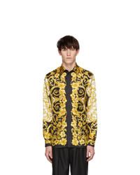 Versace Gold Silk Barocco Shirt