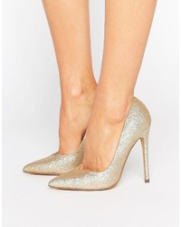 Steve Madden Glitter Pointed Pumps