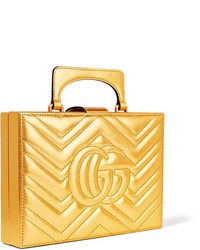00002058426 ... Gucci Broadway Box Quilted Metallic Leather Clutch Gold ...