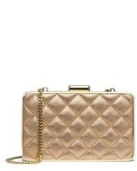 Michl michl kors elsie metallic quilted box clutch medium 108371