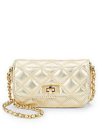 Saks Fifth Avenue Sandy Quilted Metallic Leather Mini Bag