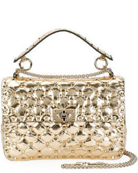 Rockstud quilted medium camera bag gold medium 4016698