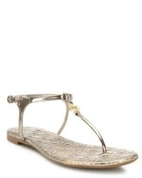 5f4b7d833 ... Tory Burch Marion Quilted Metallic Leather T Strap Sandals