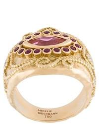 Aurelie Bidermann Cashmere Rubellite Diamond And Ruby Ring