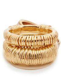 Aurelie Bidermann Aurlie Bidermann Alhambra Set Of Two Gold Plated Rings