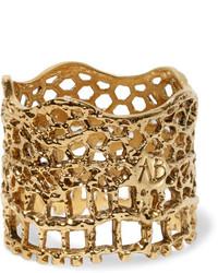 Aurelie Bidermann Aurlie Bidermann Lace Gold Plated Ring 54