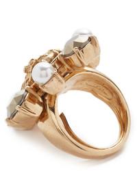 Oscar de la Renta Bold Cameo Crystal Ring