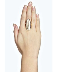 Boohoo Cally Leaf Feather Statet Ring