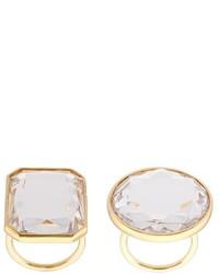 Vera Wang Faceted Crystal Ring