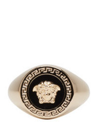 Versace Gold And Black Large Medusa Ring