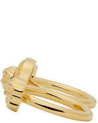 Versace Gold Medusa Knuckle Ring