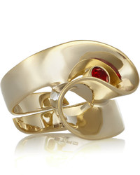 Etro Gold Plated Crystal Ring One Size