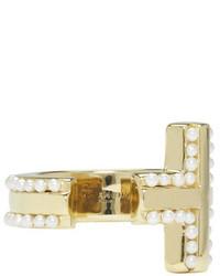 Givenchy Gold T Bar Ring