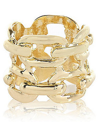 River Island Gold Tone Chain Ring