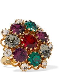 Dolce & Gabbana Gold Tone Crystal Ring