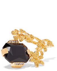 Marni Gold Tone Crystal Ring Small