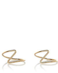 River Island Gold Tone Zig Zag Midi Ring Pack