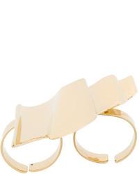 Saint Laurent Graphic Shaped Double Ring